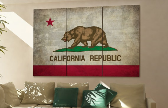 California state flag California flag state of California California wall decor California wall art California gift