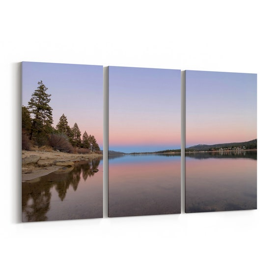 Big Bear Lake Canvas Print Big Bear Lake Wall Art Canvas Multiple Sizes Wrapped Canvas on Wooden Frame
