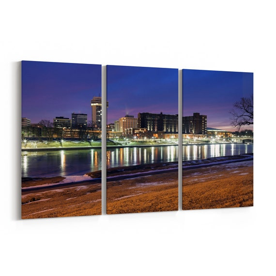 Wichita Canvas Art Wichita Wall Art Canvas Multiple Sizes Wrapped Canvas on Wooden Frame