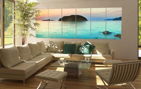 Large tropical sea  canvas tropical sea wall decoration tropical seal canvas art tropical sea large canvas  wall decor