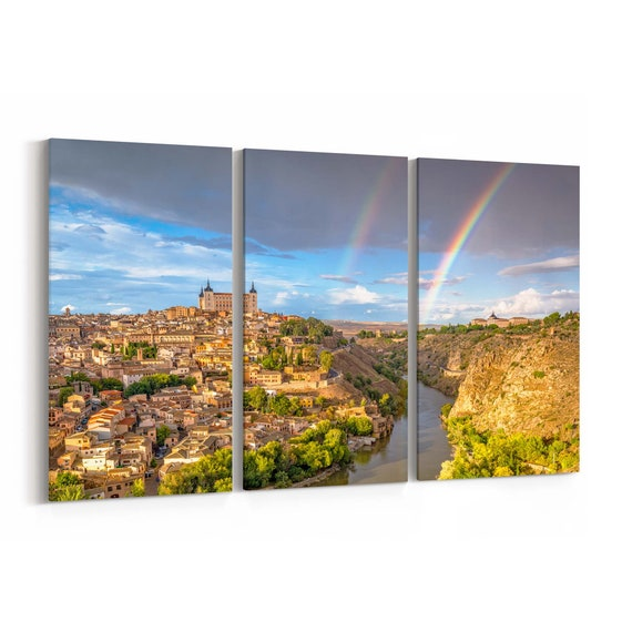 Toledo Canvas Print Toledo Wall Art Canvas Spain Multiple Sizes Wrapped Canvas on Wooden Frame