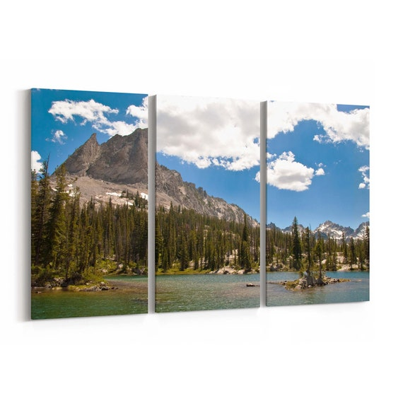 Alice Lake Canvas Print Alice Lake Wall Art Canvas Idaho Multiple Sizes Wrapped Canvas on Wooden Frame