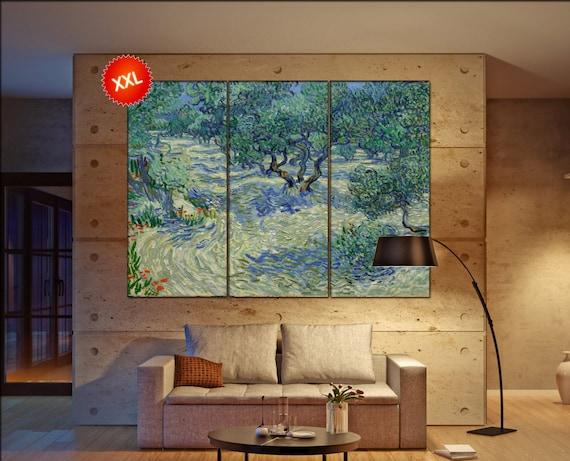 van gogh olive trees  print canvas wall art Large van gogh olive trees art artwork large art office decoration