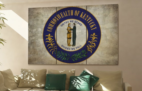 kentucky seal flag  canvas kentucky seal flag wall decoration kentucky seal flag canvas art kentucky seal flag large canvas