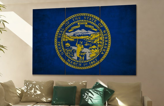 Nebraska state flag Nebraska flag state of Nebraska Nebraska wall decor Nebraska wall art Nebraska gift