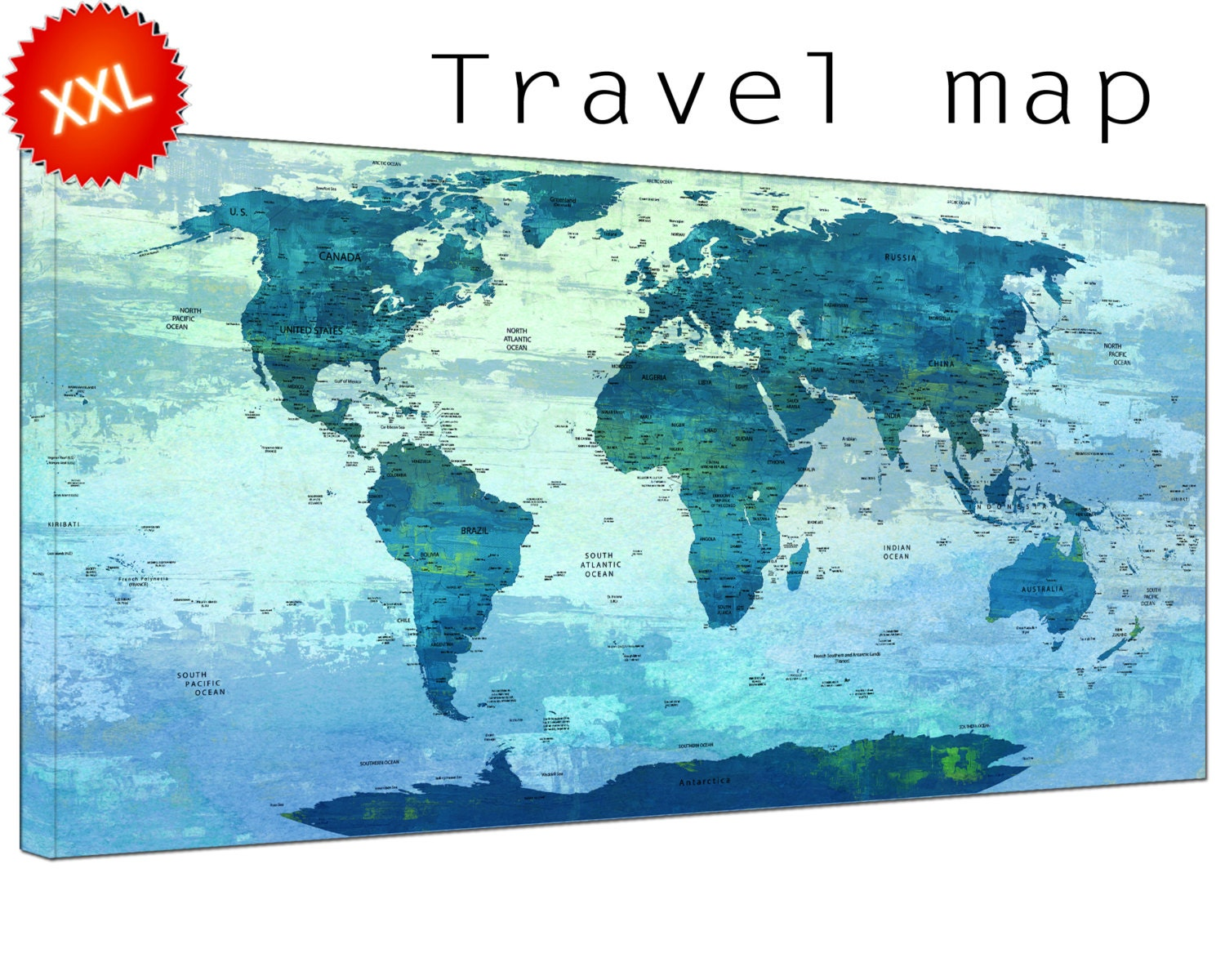 Push pin travel world map canvas art print large push pin travel push pin travel world map canvas art print large push pin travel world map with countries home office decor print on canvas gumiabroncs Images