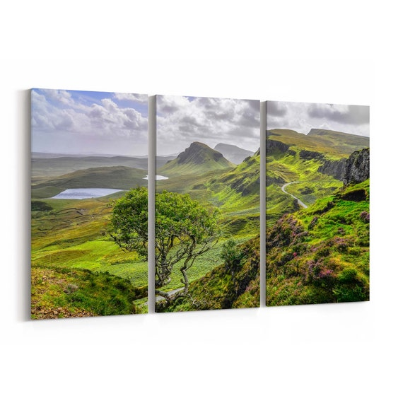Quiraing Mountains Canvas Print Quiraing Mountains Wall Art Canvas Multiple Sizes Wrapped Canvas on Wooden Frame