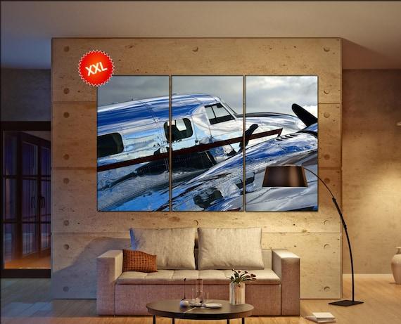aircraft  canvas wall art art  large wall aircraft  canvas wall art print turbine aircraft Office Decor aircraft  vintage