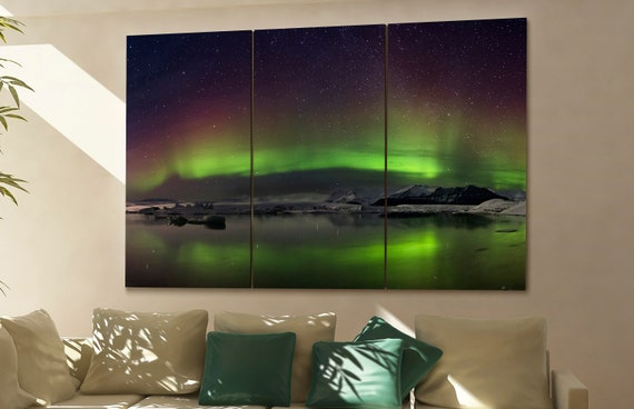 Northern lights canvas Northern lights wall art Northern lights canvas wall art Northern lights decor Northern lights wall decor