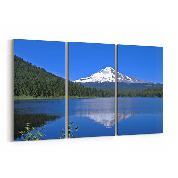 Mt. Hood Canvas Print Mt. Hood Wall Art Canvas Multiple Sizes Wrapped Canvas on Wooden Frame
