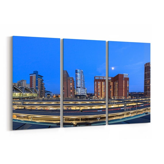Leeds Skyline Wall Art Leeds Canvas Print Multiple Sizes Wrapped Canvas on Wooden Frame