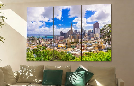 San Francisco skyline canvas wall art  San Francisco canvas wall art art San Francisco wall decoration San Francisco large canvas wall art