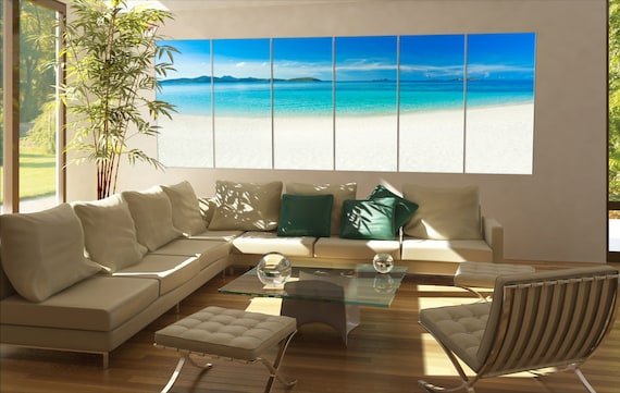 Large white beach  canvas wall art Large white beach wall decoration Large white beach canvas wall art art large canvas wall art  wall decor