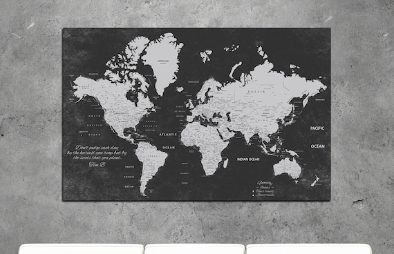 Push pin world map, personalized world map, Push Pin Travel Map World, customize world map, push pin map, travel map, world map wall art