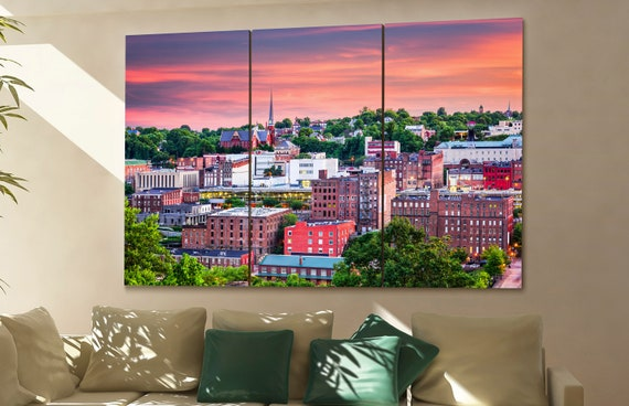 Lynchburg skyline Lynchburg wall art Lynchburg city Lynchburg art Lynchburg cityscape Lynchburg downtown Lynchburg canvas