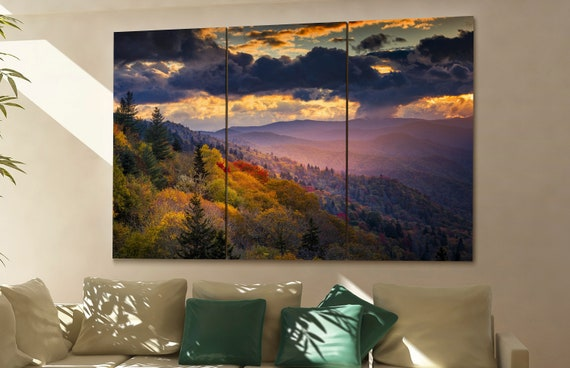 Great Smoky Mountains wall art Great Smoky Mountains canvas Great Smoky Mountains canvas wall art Great Smoky Mountains decor