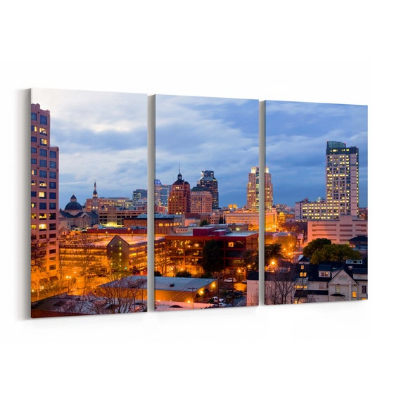 Sacramento Skyline Wall Art Sacramento Canvas Print Multiple Sizes Wrapped Canvas on Wooden Frame