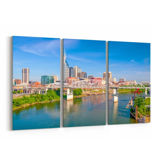 Nashville Skyline Canvas Nashville Canvas Print Tennessee Multiple Sizes Wrapped Canvas on Wooden Frame