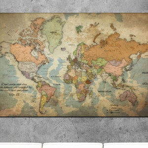 World map canvas etsy push pin travel map vintage world map old world map vintage push pin map vintage world map canvas antique world map gumiabroncs Gallery