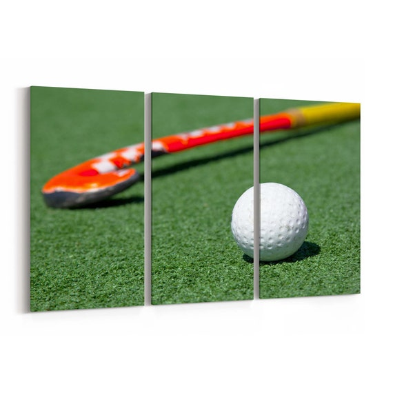 Hockey Canvas Print Hockey Wall Art Canvas Multiple Sizes Wrapped Canvas on Wooden Frame