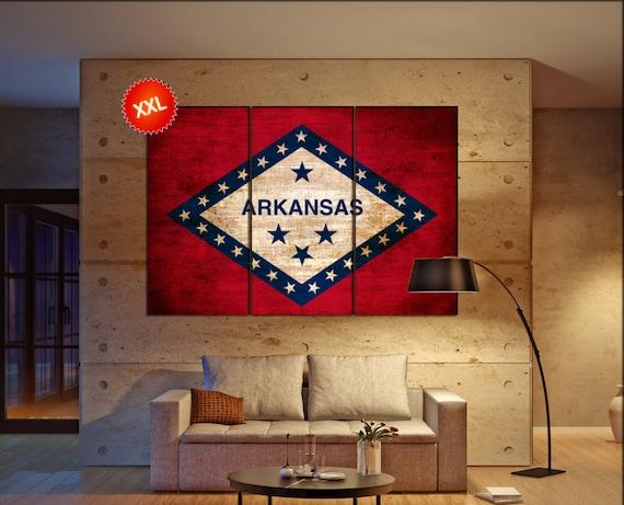 Arkansas state flag  canvas Arkansas state flag wall decoration Arkansas state flag canvas art Arkansas state flag large canvas