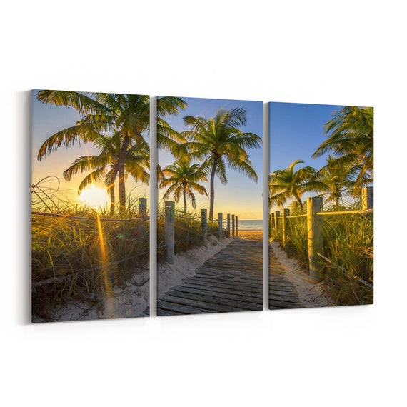 Key West Canvas Print Key West Wall Art Canvas Multiple Sizes Wrapped Canvas on Wooden Frame
