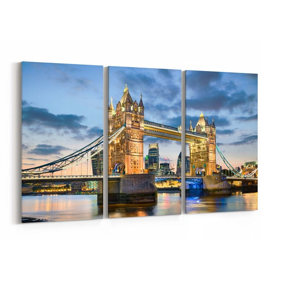Tower Bridge Skyline Wall Art Tower Bridge Canvas Print Multiple Sizes Wrapped Canvas on Wooden Frame