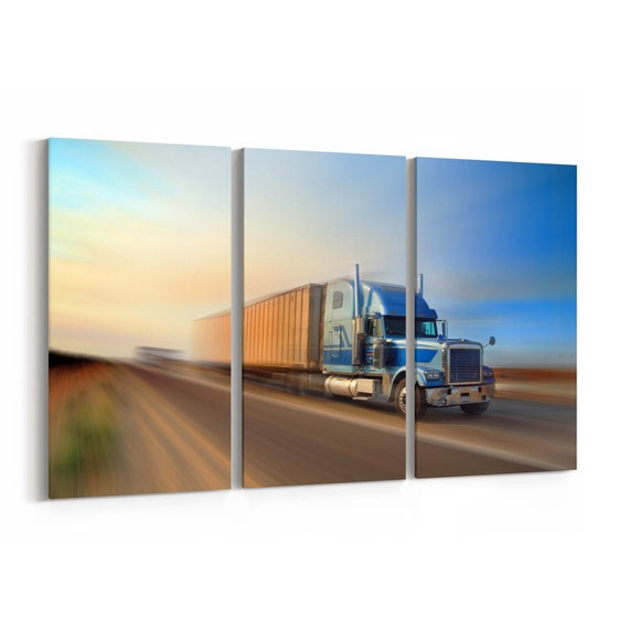 Truck Wall Art Canvas Truck Canvas Print Multiple Sizes Wrapped Canvas on Wooden Frame