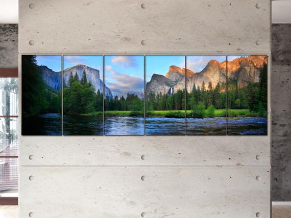 Yosemite Nation Park panorama  canvas Yosemite Nation Park wall decoration Yosemite canvas art large canvas  wall decor