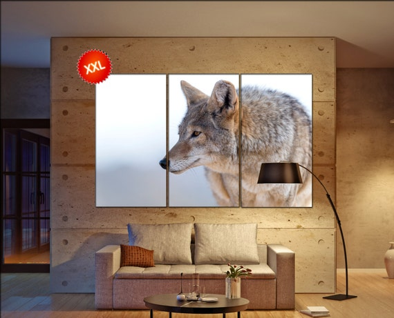 Coyote  canvas wall art Coyote wall decoration Coyote canvas wall art art Coyote large canvas wall art  wall decor