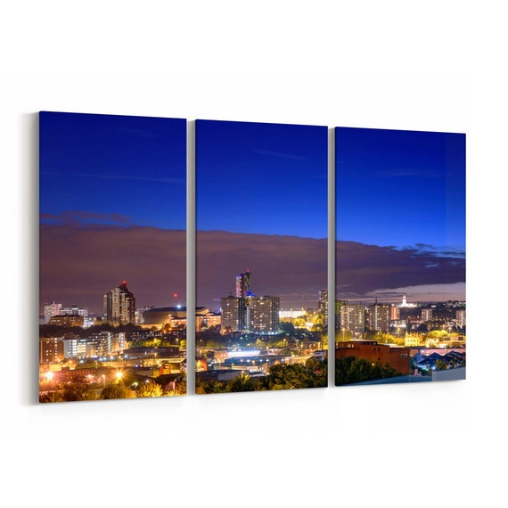 Leeds Canvas Print Leeds Wall Art Canvas Multiple Sizes Wrapped Canvas on Wooden Frame