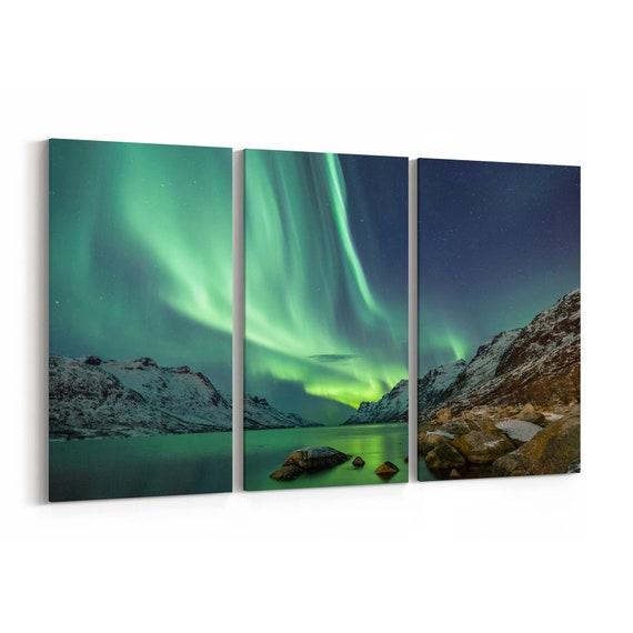 Northern Light Canvas Art Northern Light Wall Art Canvas Multiple Sizes Wrapped Canvas on Wooden Frame