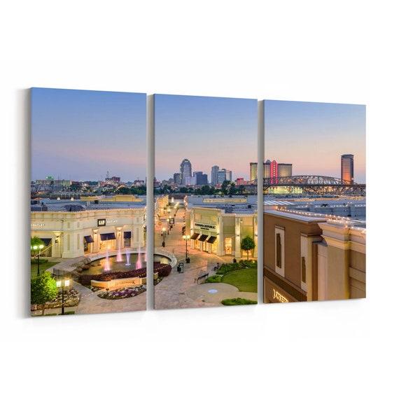 Shreveport Canvas Print Shreveport Wall Art Canvas Lousiana Multiple Sizes Wrapped Canvas on Wooden Frame