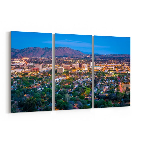 Riverside Skyline Wall Art Riverside Canvas Print Multiple Sizes Wrapped Canvas on Wooden Frame