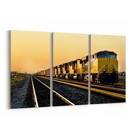 Locomotive Canvas Print Locomotive Wall Art Canvas Multiple Sizes Wrapped Canvas on Wooden Frame