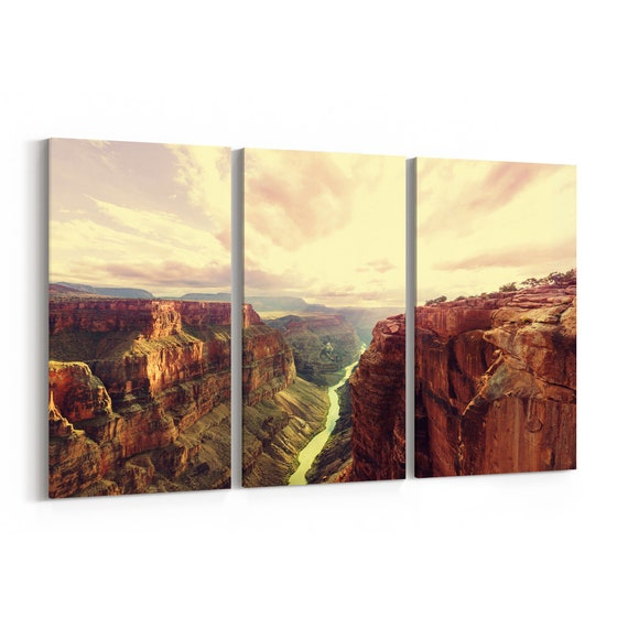Grand Canyon Wall Art Canvas Grand Canyon Canvas Print Multiple Sizes Wrapped Canvas on Wooden Frame