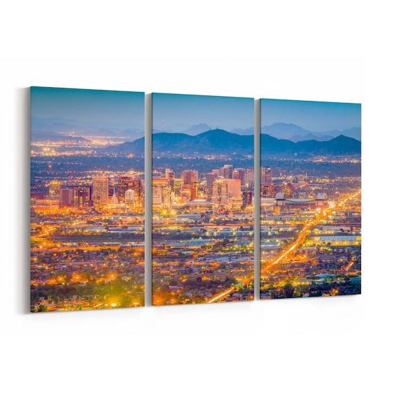 Phoenix Canvas Print Phoenix Wall Art Canvas Arizona Multiple Sizes Wrapped Canvas on Wooden Frame