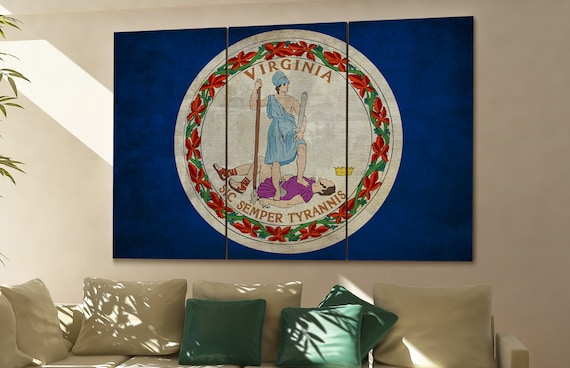 Virginia state flag Virginia flag state of Virginia Virginia wall decor Virginia wall art Virginia gift