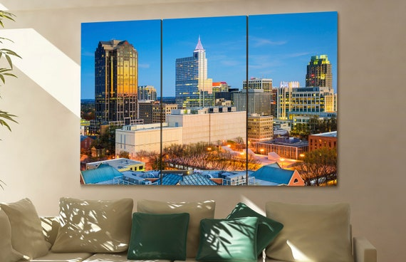 Raleigh  skyline Raleigh  wall art Raleigh  city Raleigh  art Raleigh  cityscape Raleigh  downtown Raleigh  canvas