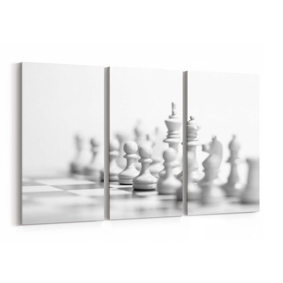 Chess Wall Art Canvas Chess Canvas Print Multiple Sizes Wrapped Canvas on Wooden Frame