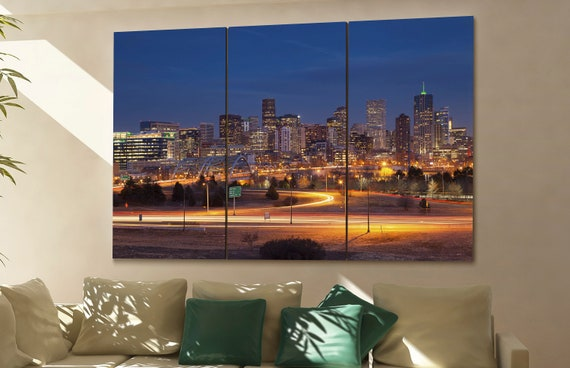 Denver skyline Denver wall art Denver city Denver art Denver cityscape Denver downtown Denver canvas