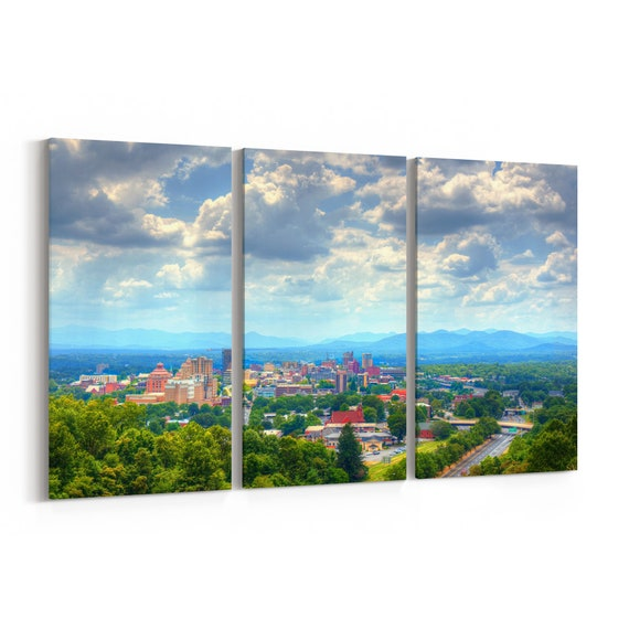 Asheville Canvas Print Asheville Wall Art Canvas North Carolina Multiple Sizes Wrapped Canvas on Wooden Frame