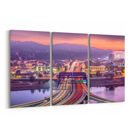 Charleston Canvas Print Charleston Wall Art Canvas West Virginia Multiple Sizes Wrapped Canvas on Wooden Frame