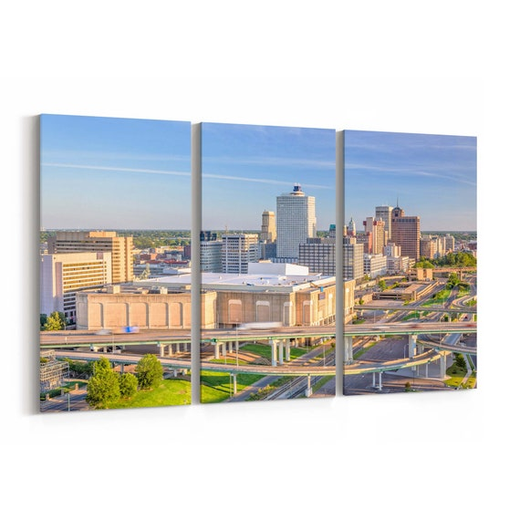 Memphis Canvas Print Memphis Wall Art Canvas Tennessee Multiple Sizes Wrapped Canvas on Wooden Frame