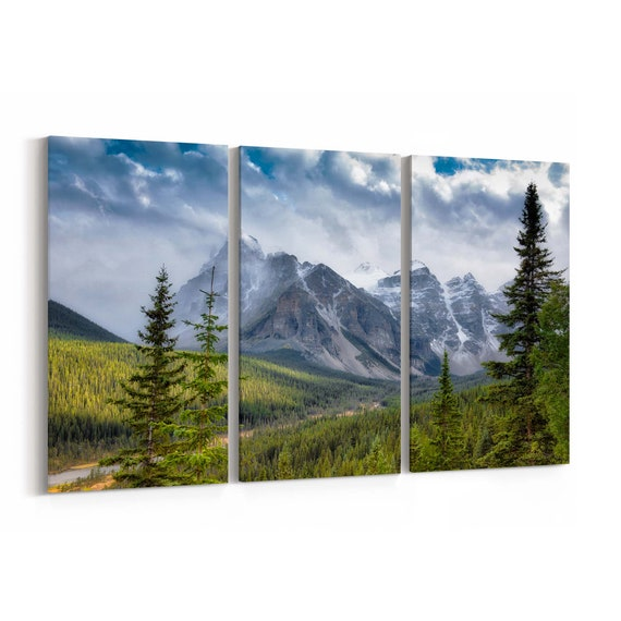 Canadian Rockies Wall Art Canvas Canadian Rockies Canvas Print Multiple Sizes Wrapped Canvas on Wooden Frame