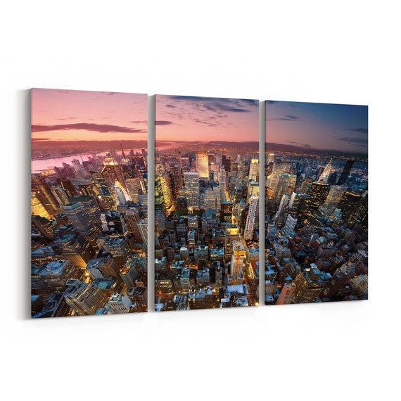 New York Canvas Print New York Wall Art Canvas Multiple Sizes Wrapped Canvas on Wooden Frame