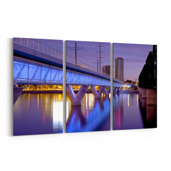 Tempe Skyline Wall Art Tempe Canvas Print Arizona Multiple Sizes Wrapped Canvas on Wooden Frame