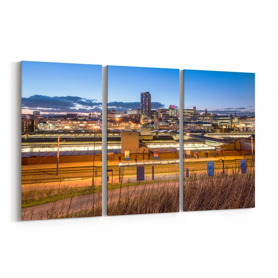 Sheffield Canvas Art Sheffield Wall Art Canvas Multiple Sizes Wrapped Canvas on Wooden Frame