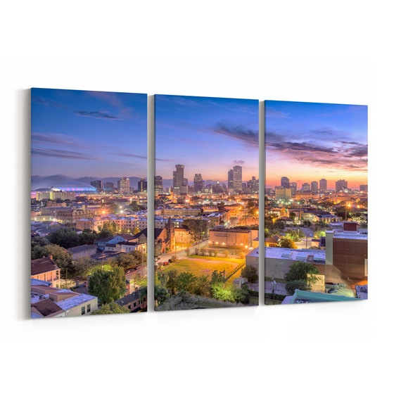 New Orleans Canvas Art New Orleans Wall Art Canvas Louisiana Multiple Sizes Wrapped Canvas on Wooden Frame