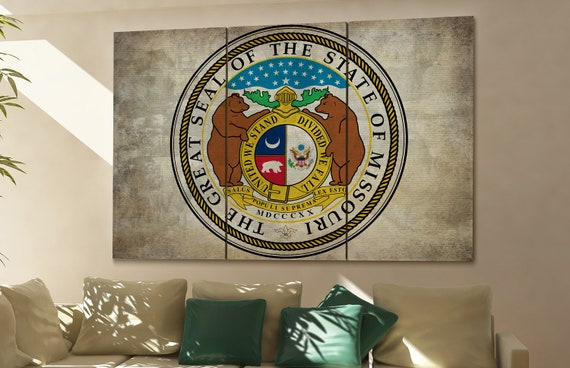 missouri seal flag  canvas missouri seal flag wall decoration missouri seal flag canvas art missouri seal flag large canvas